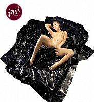 Čierne lakované prestieradlo Orgy-Laken 200 x 230 cm