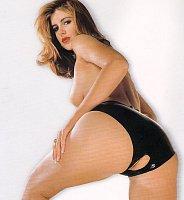 Latexové čierne nohavičky s otvorom v rozkroku veľ. L Sharon Sloane