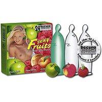 Kondómy s príchuťou letného ovocia Sexy fruits - 24 kusov