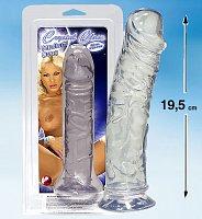 Krásny realistický masturbátor Crystal Clear s prísavkou