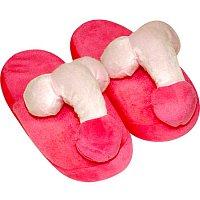 Žartovné dámske plyšové papuče s pinďourky veľ. 37-40