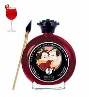 Maľovanie na telo - Šampaňské s jahodou Shunga