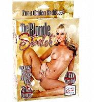 Nafukovacia plavovlasá kráska The Blonde Starlet 3 otvory